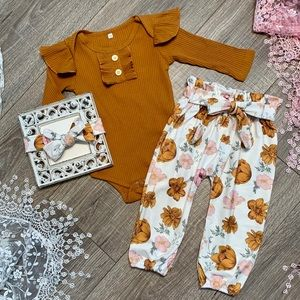 Boutique Baby Girls 3pc Outfit